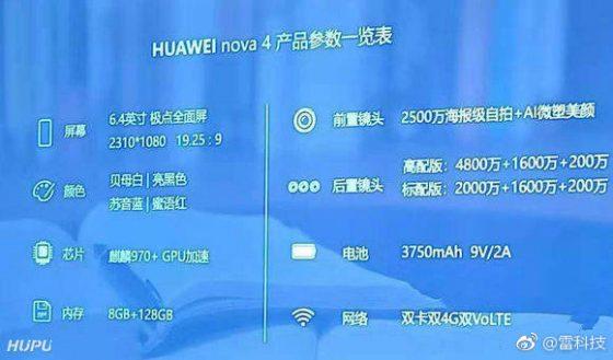 Huawei Nova 4 cena specyfikacja techniczna kiedy premier opinie gdzie kupić najtaniej w Polsce