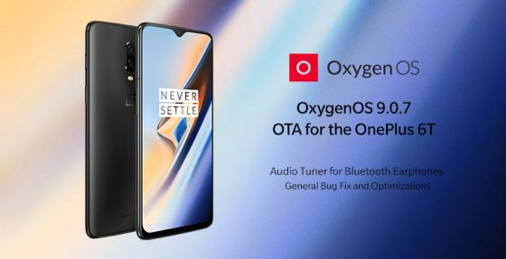 OxygenOS 9.0.7 update for OnePlus 6T