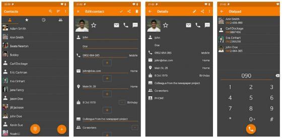Simple contacts pro najlepsze aplikacja android listopad 2018