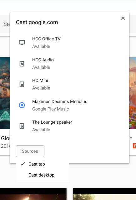 Google Chrome Cast Chromecast zmiany