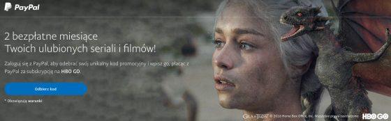 HBO Go za darmo jak PayPal