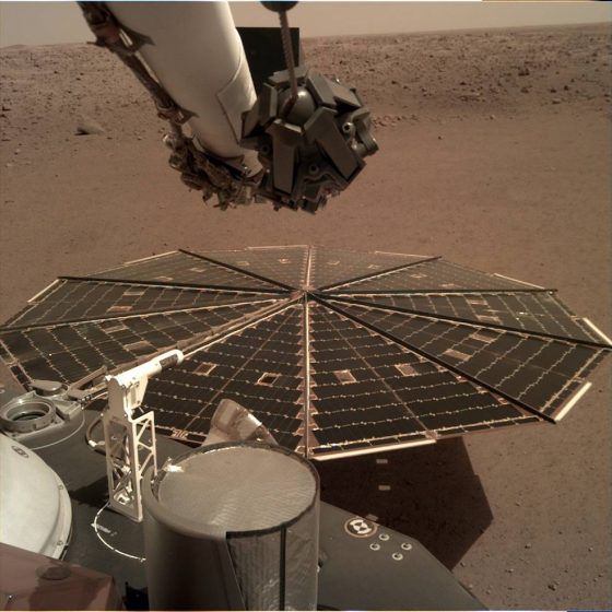 Sonda InSight lądownika Mars wiatr kosmos NASA