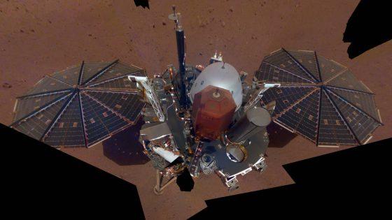 Sonda kosmiczna lądownik InSght Mars kosmos selfie zdjęcie NASA