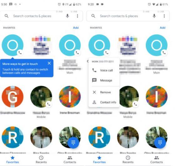 telefon google zmiany ulubione aktualizacja