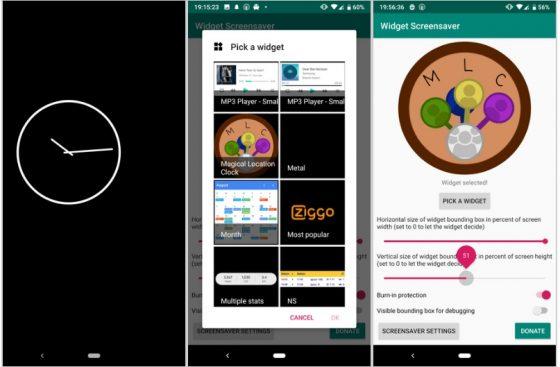 widget screensaver android wygaszacz ekranu widżety