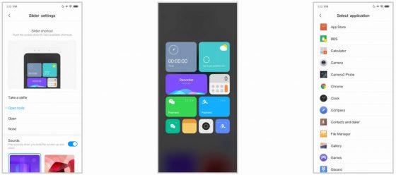 Xiaomi Mi Mix 3 slider opcje ustawienia aktualizacja MIUI