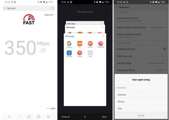 Mint Browser przeglądarka internetowa Xiaomi