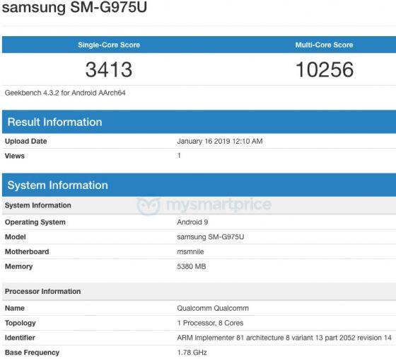 Samsung Galaxy S10 Plus Geekbench cena kiedy premiera specyfikacja techniczna opinie