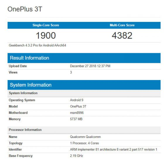OnePlus 3T OxygenOS 9 z Android Pie kiedy