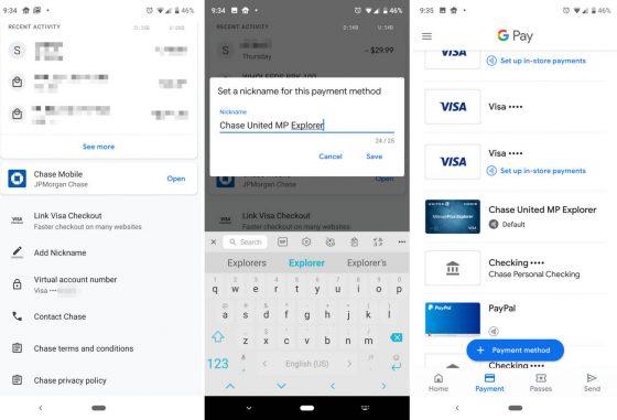 Google Pay zmiana nazwy karty