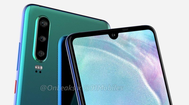 Huawei P30 Pro rendery Onleaks smartfony 2019 specyfikacja techniczna kiedy premiera