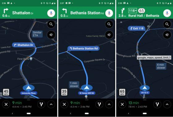 Mapy Google Limity ograniczenia prędkości