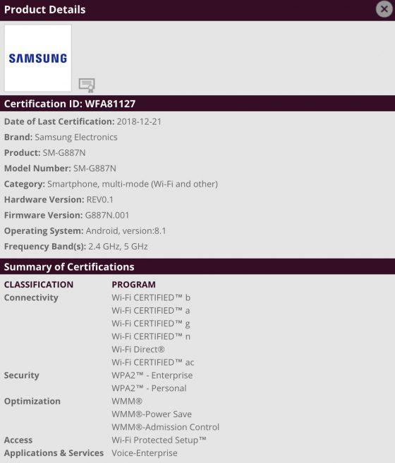 Samsung Galaxy A8s SM-G877N cena kiedy premiera w Europie gdzie kupić najtaniej w Polsce specyfikacja techniczna opinie