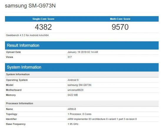 Samsung Galaxy S10 Exynos 9820 Geekbench kiedy premiera specyfikacja techniczna opinie