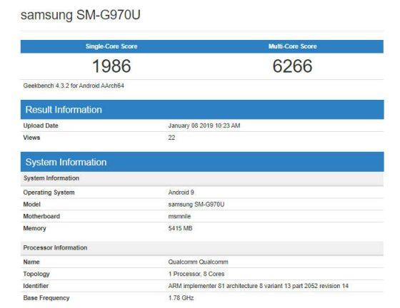 Samsung Galaxy S10 Lite Geekbench kiedy premiera specyfikacja techniczna opinie