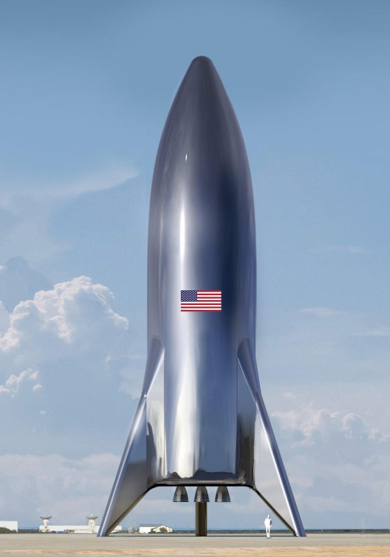 SpaceX Starship BFR rakieta nośna Elon Musk