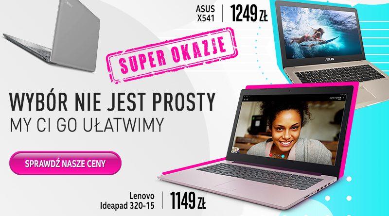 Promocja na laptopy Asus HP Lenovo niskie ceny