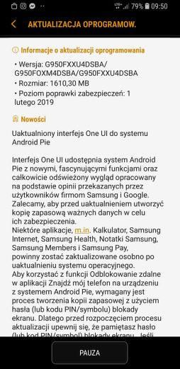 Samsung Galaxy Note 8 s8 aktualizacja Android Pie One UI XEO w Polsce