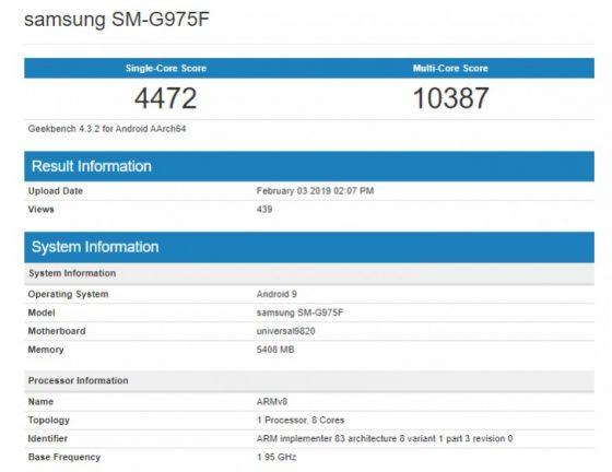 Samsung Galaxy S10 Plus cena opinie specyfikacja techniczna kiedy premiera gdzie kupić najtaniej w Polsce Exynos 98220 Geekbench benchmarki