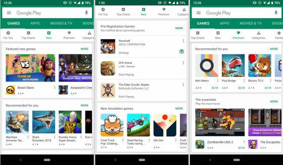 Sklep Google Play nowości nowe funkcje aplikacje Android