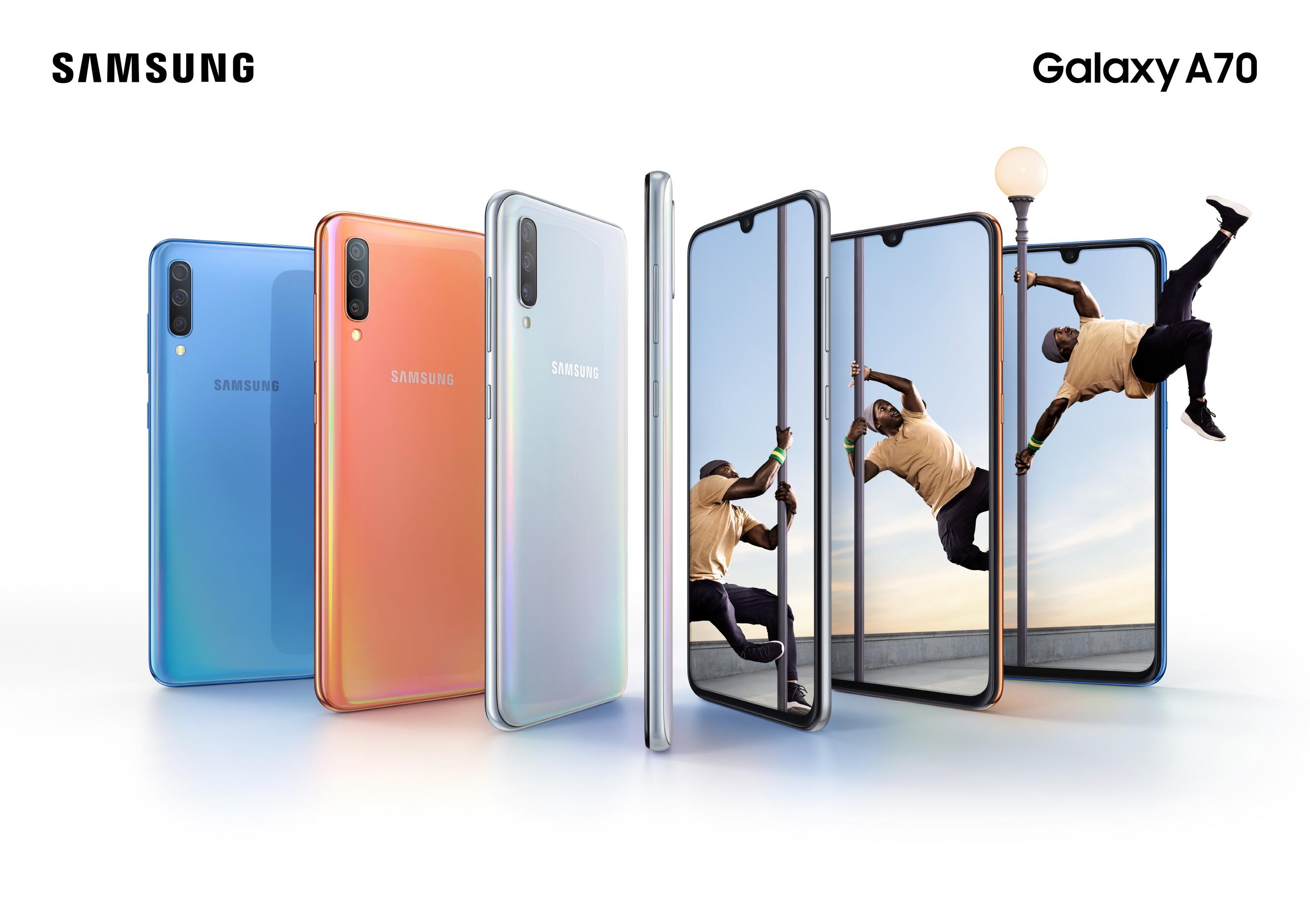 Samsung Galaxy A70 cena specyfikacja techniczna opinie premiera gdzie kupić najtaniej w Polsce Galaxy S10 Plus
