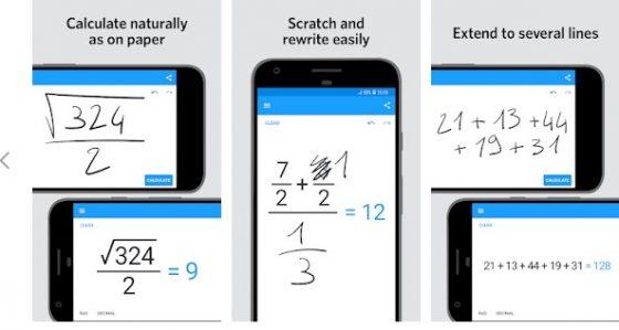 MyScript Calculator 2 najlepsze nowe aplikacje Android Sklep Play Google luty 2019
