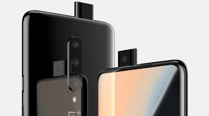 OnePlus 7 on video. There is a triple camera and a sliding camera (update)