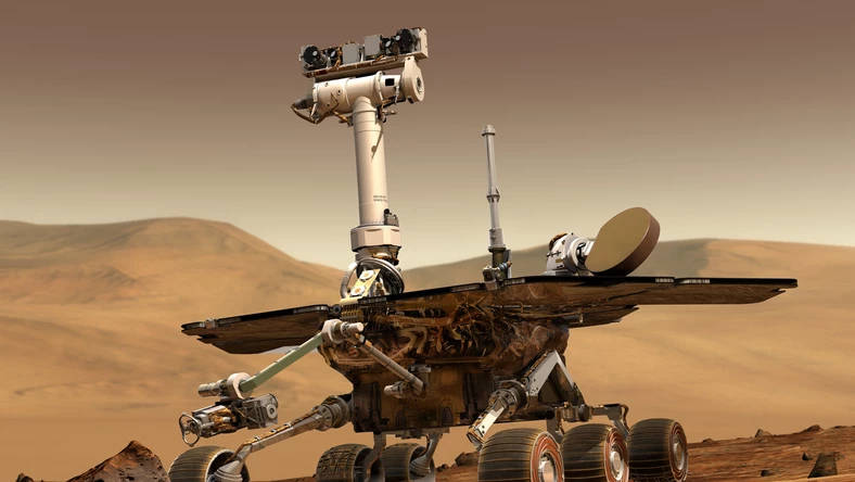 Łazik marsjański Opportunity Mars NASA panorama kosmos