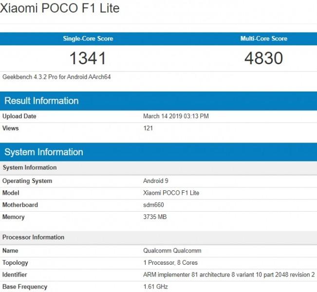 Xiaomi Pocophone F1 Lite Geekbench kiedy premiera cena hdzie kupić najtaniej w Polsce Redmi Note 7 specyfikacja techniczna opinie