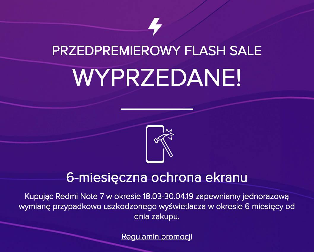 Xiaomi Redmi Note 7 wyprzedany flash sale błyskawiczna sprzedaż cena opinie gdzie kupić najtaniej w Polsce przedsprzedaż
