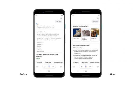 Asystent Google Assistant wizualne odpowiedzi Android aplikacje