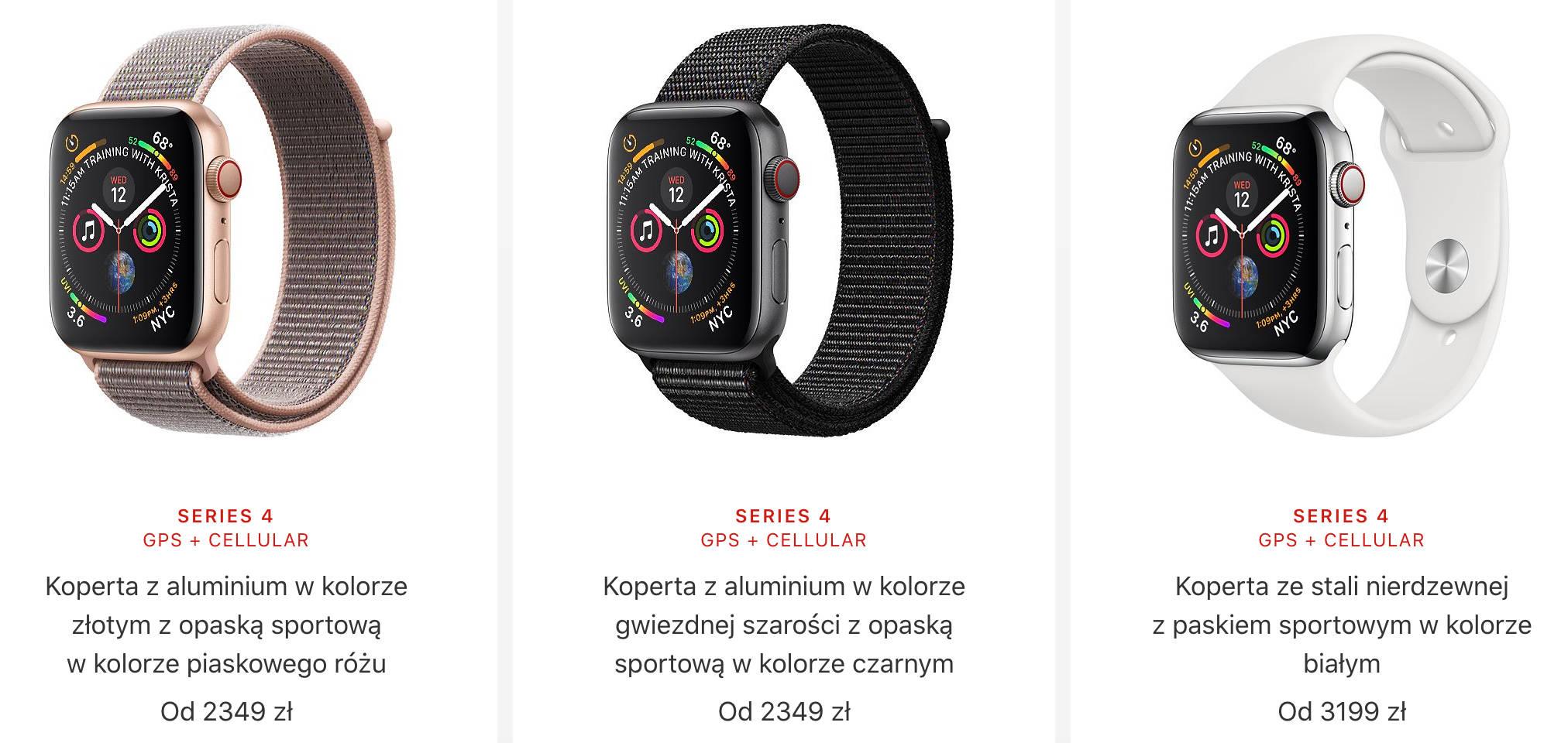 Apple Watch 4 3 LTE cena przedsprzedaż gdzie kupić najtaniej w Polsce opinie eSIM Orange