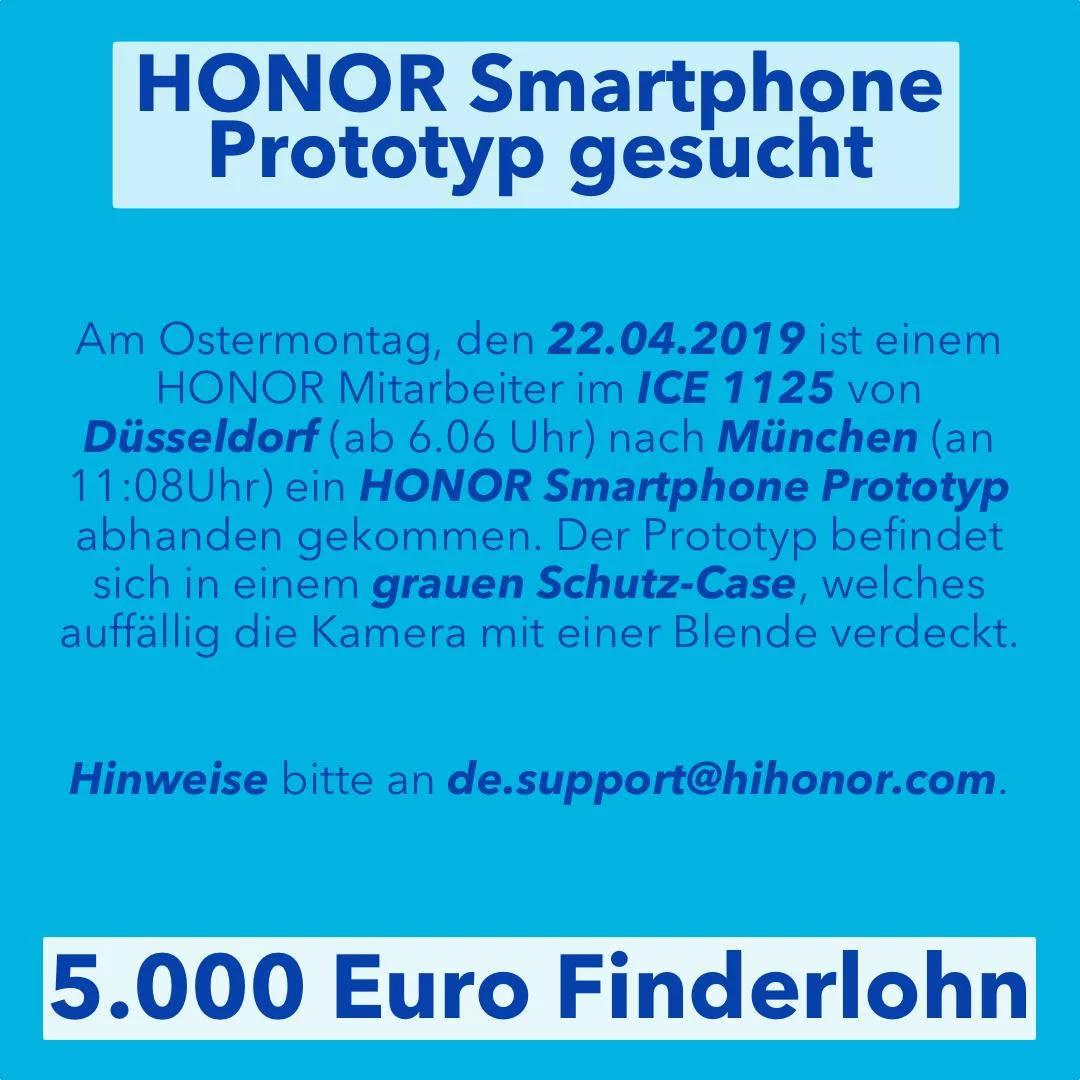 Honor 20 prototyp zgubiony nagroda kiedy premiera plotki przecieki