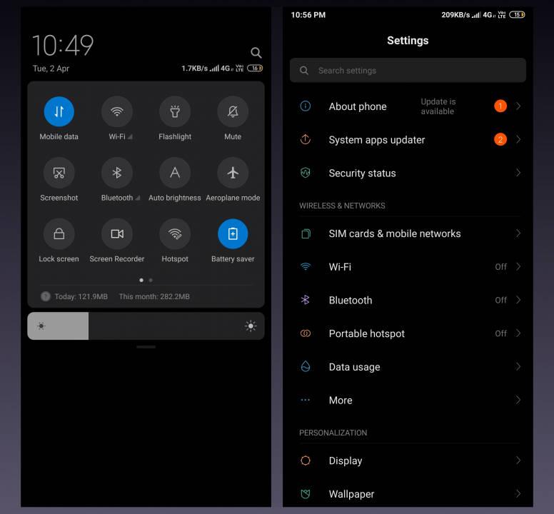 Xiaomi MIUI 10 Global Beta dark model czarny motyw ciemny jak włączyć na jakich smartfonach Redmi