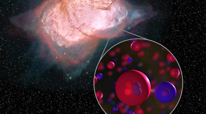 NASA wodorek helu kosmos wszechświat cząsteczki