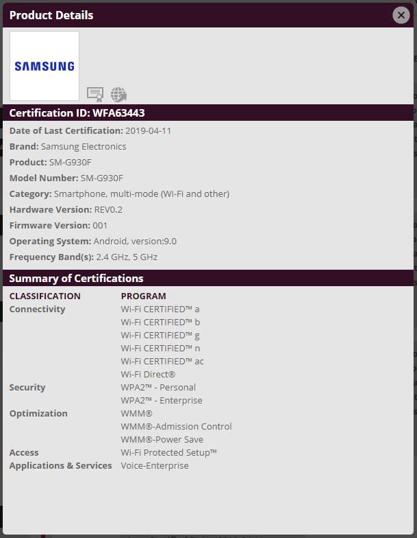 Samsung Galaxy S7 edge kiedy aktualizacja Android Pie z One UI