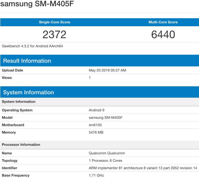 Samsung Galaxy M40 cena kiedy premiera plotki przecieki specyfikacja techniczna dane techniczne Redmi Note 7 Pro