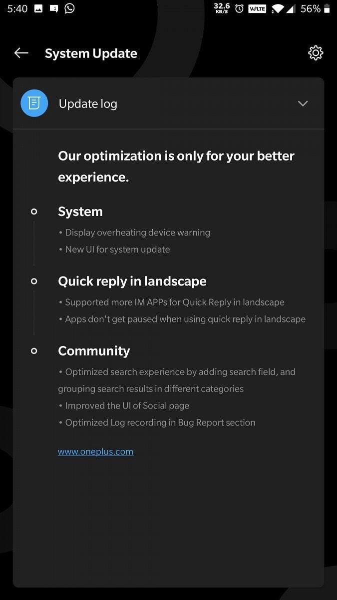OnePlus 6T OxygenOS Open Beta 17 aktualizacja ostrzeżenia o przegrzaniu