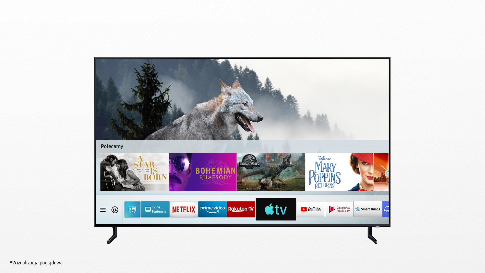 Telewizory Samsung Smart TV Apple TV AirPlay 2 jak to włączyć lista modeli Apple TV Plus Netflix produkcje oryginalne