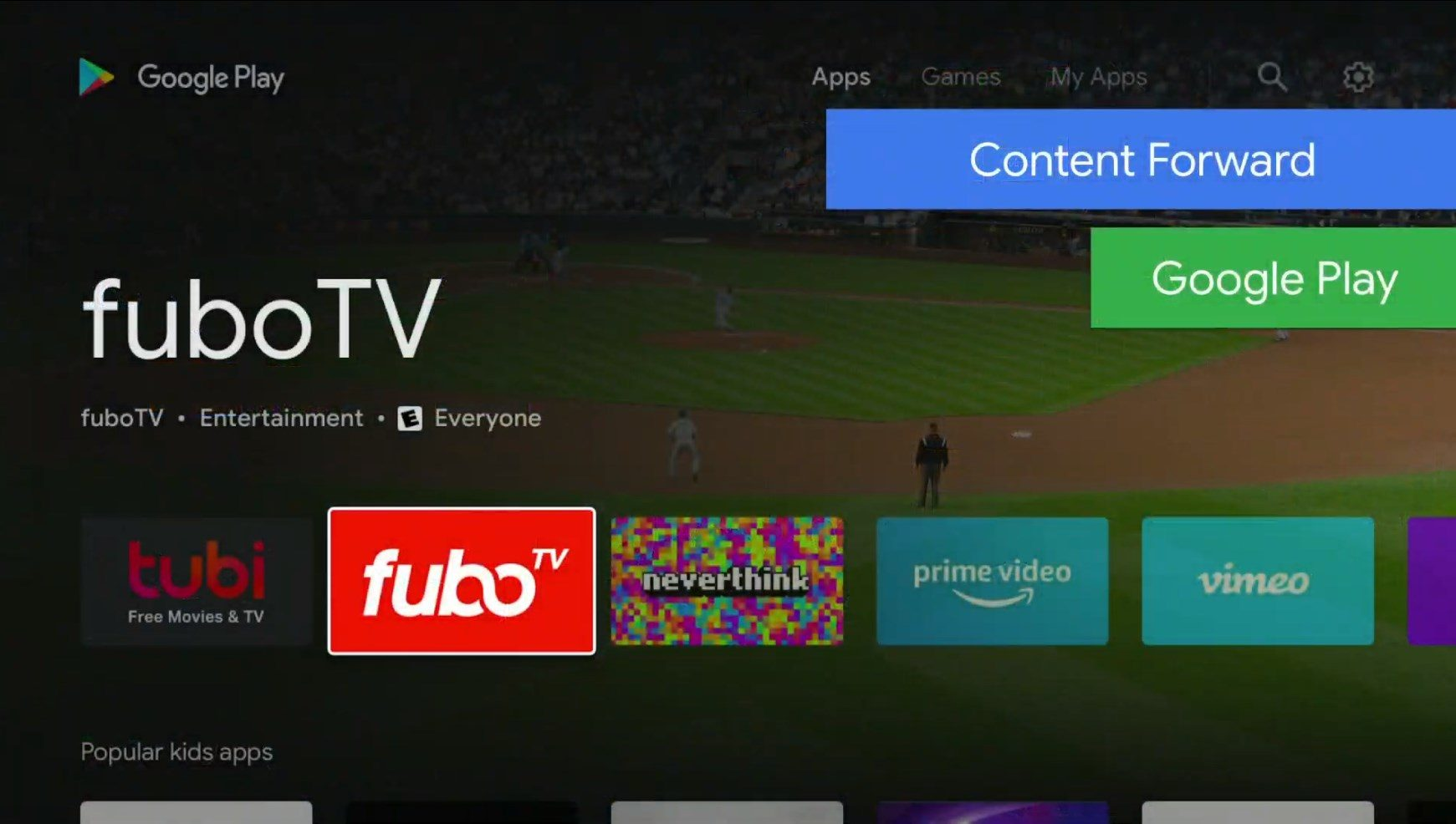 Android TV nowy Sklep Play Google I/O 2019