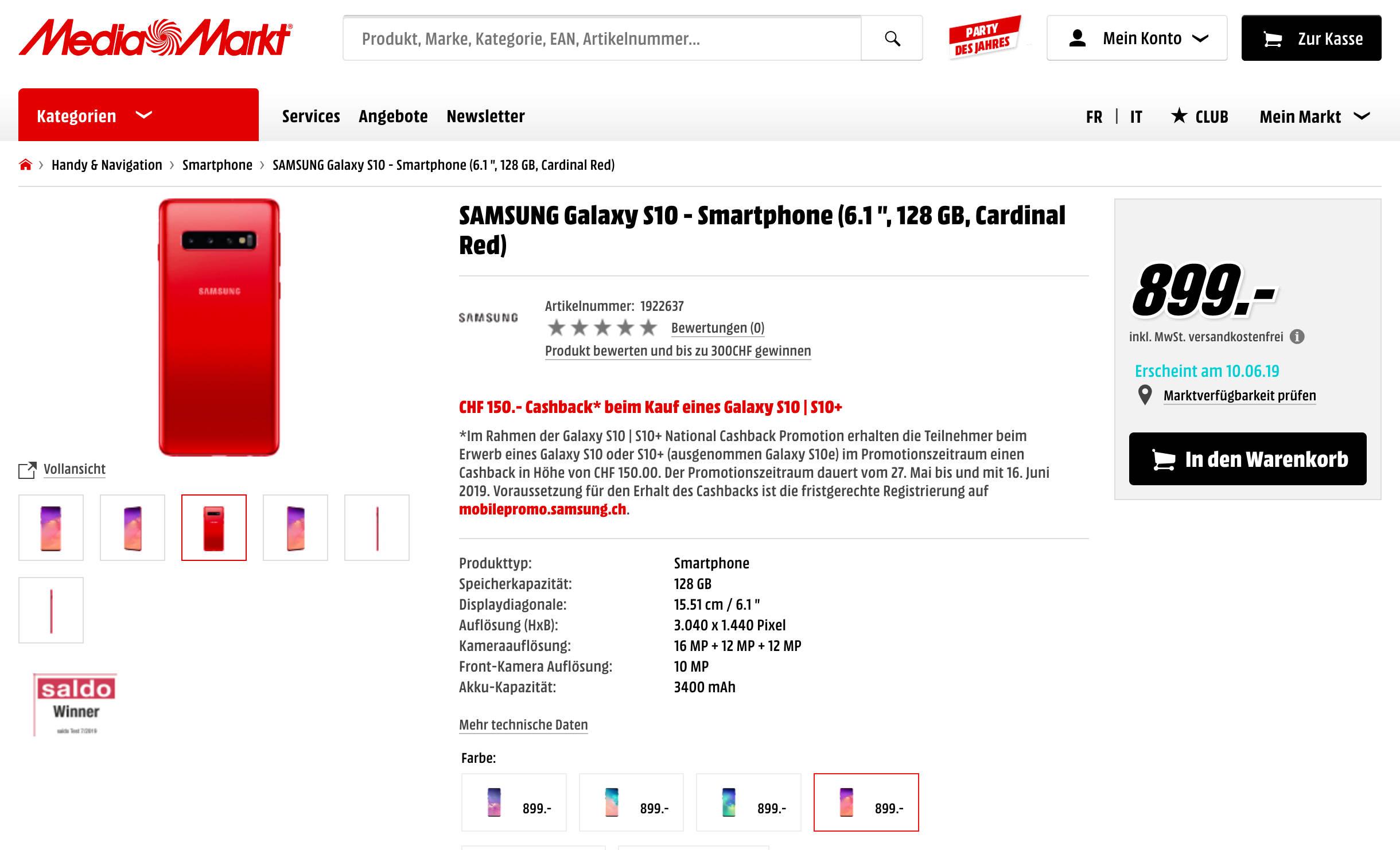 Czerwony Samsung Galaxy S10 kiedy w Polsce gdzie kupić najtaniej Cardinal Red