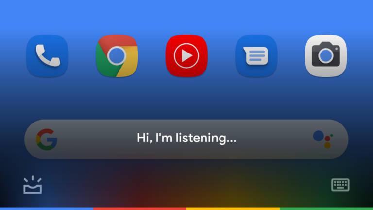 Przezroczysty Asystent Google Holo Android 4.0 Ice Cream Sandwich