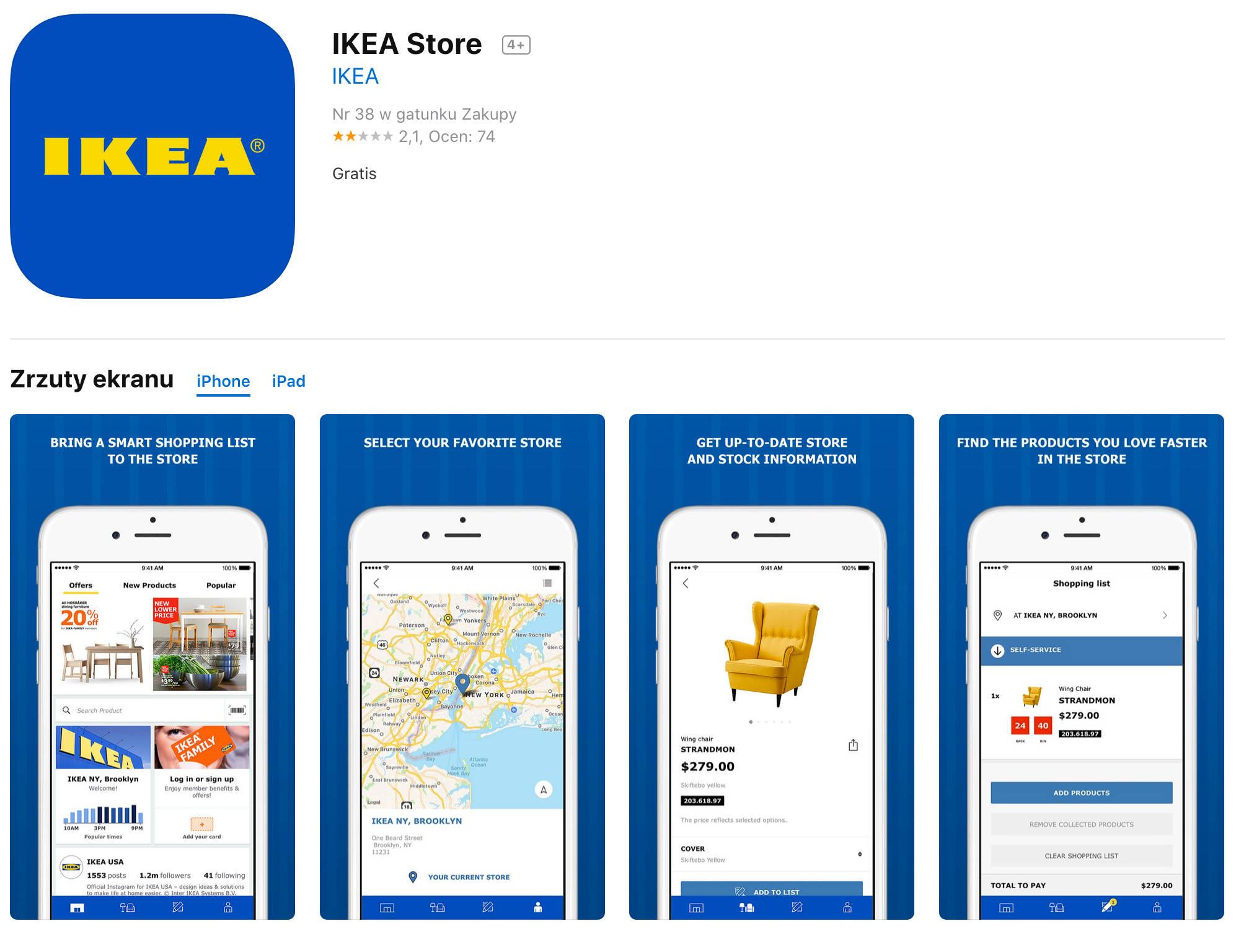 Nowa aplikacja IKEA zakupy online gdzie kupować przez internet