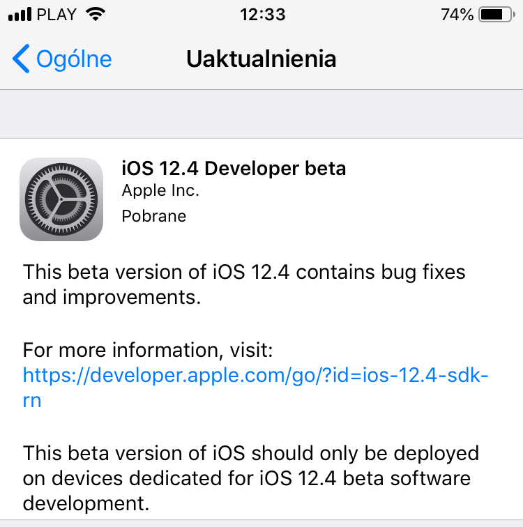 iOS 12.4 beta 1 co nowego Apple iPhone macOS 10.14.6 tvOS 12.4 watchOS 5.3 iOS 13