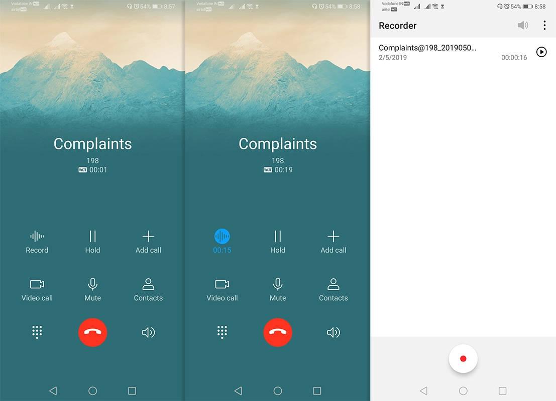 Nagrywanie rozmów w Huawei P30 Mate 20 z EMUI 9.1 jak nagrać rozmowę połączenie głosowe telefoniczne