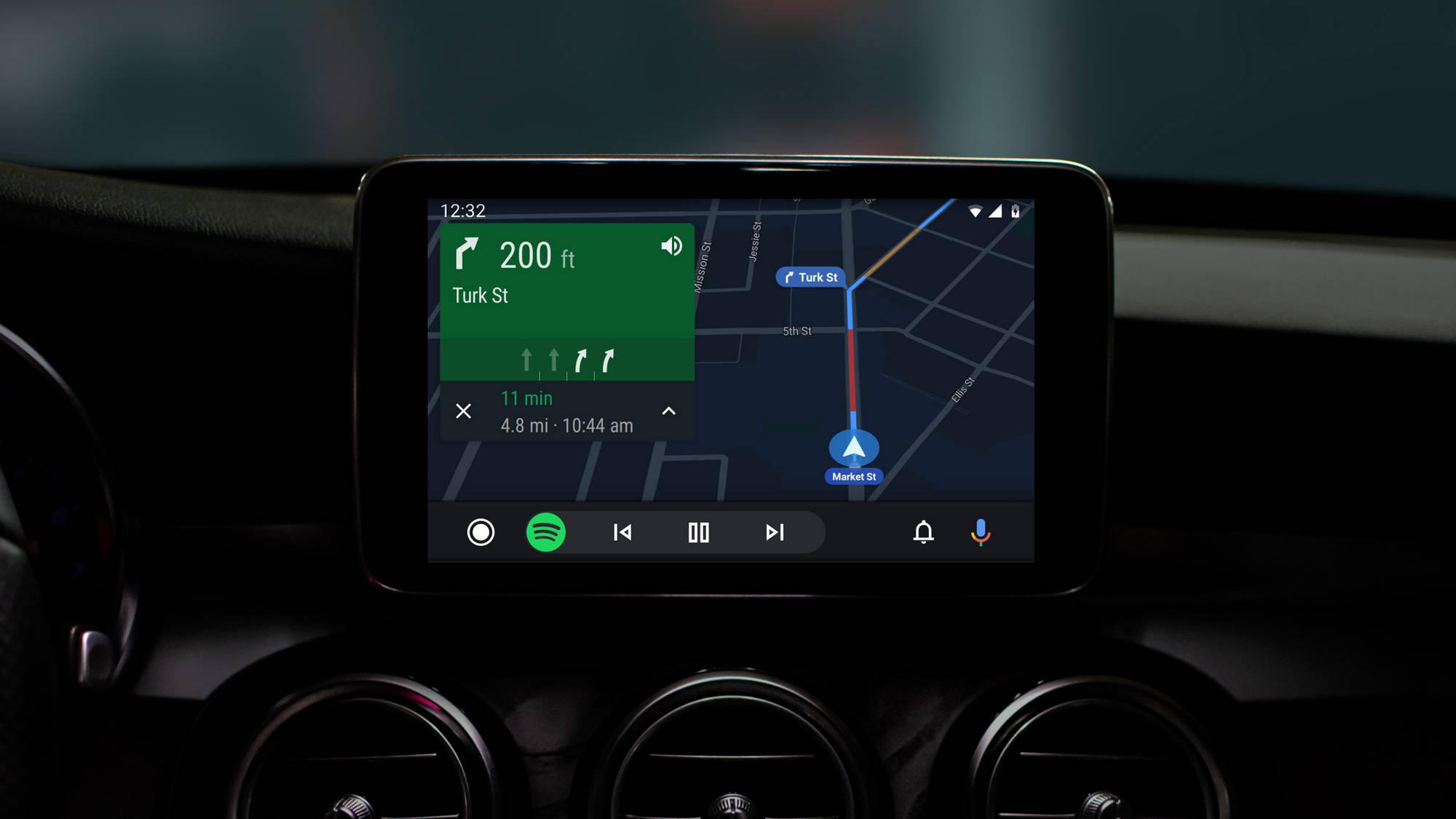 nowe Android Auto 4.3 Boardwalk zmiany aplikacje nowy design głos Asystent Google Maps Mapy