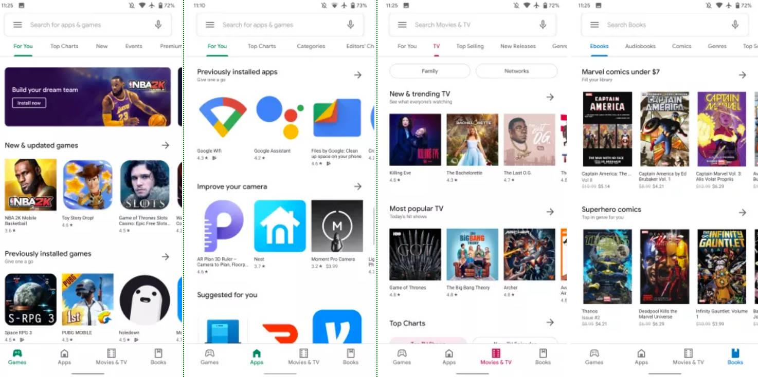 Nowy Sklep Play z Material Theme jak włączyć na Google Android