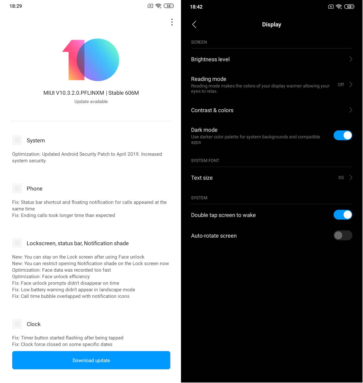 Xiaomi Redmi Note 7 aktualizacja MIUI 10.3.2.0 dark mode jak włączyć ciemny motyw