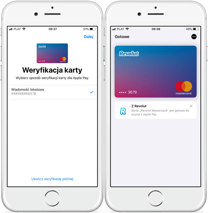 karty Revolut jak dodać je do Apple Pay na iPhone