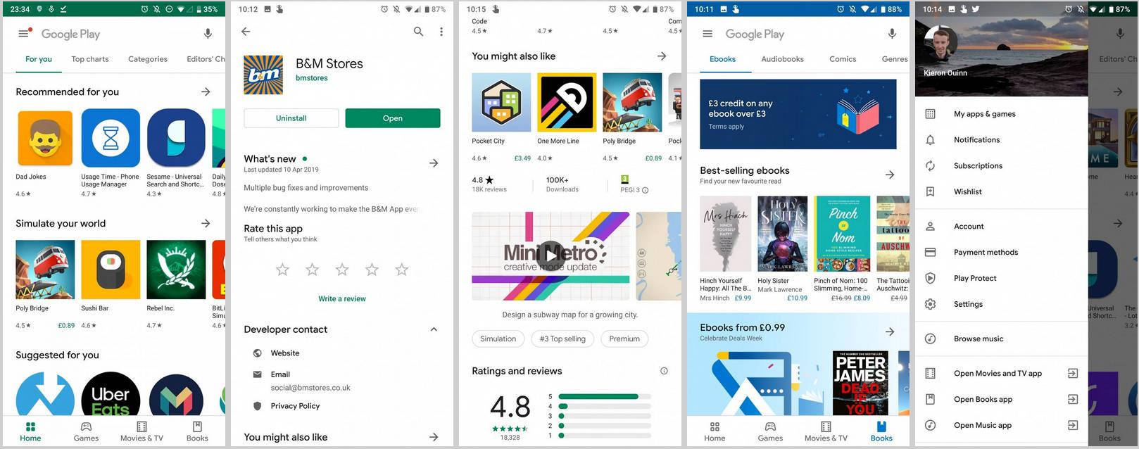 Sklep Play Material Theme Android Q APEX kiedy Google I/O 2019